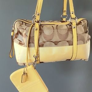 Coach yellow Satchel